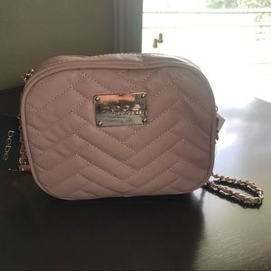 Bebe Peach Crossbody Camera Bag